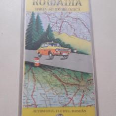 Harta Romaniei ACR cu husa plastic perioada comunista