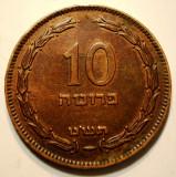 7.179 ISRAEL 10 PRUTA PRUTAH 1949 FARA PERLA, Asia, Bronz