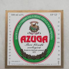 Eticheta Bere - AZUGA - Bere Blonda Ecologica .