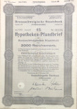 2000 Reichsmark titlu de stat Germania 1940