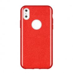Husa Huawei P Smart 2019, Glitter / Sclipici, Rosu