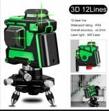Laser linie verde 3D, 360x3, acumulator , trepied, incarcator, buzzer
