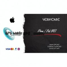 Verificare retea si alte informatii iPhone / iPad pe baza de IMEI
