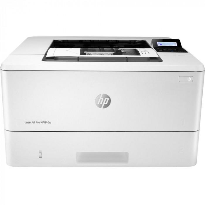 Imprimanta laser monocrom HP LaserJet Pro M404dw, Duplex, Retea, Wireless, A4