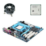 Kit Placa de Baza Refurbished GIGABYTE GA-M68M-S2P, AMD Athlon II X2 255, Cooler