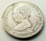 SPANIA - 2 Pesetas 1889 MP M - Alfonso XIII - Argint, Europa