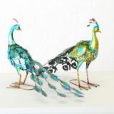 Decoratiune metalica Antonio Peacock Multicolor, Modele Asortate, l74xA35xH50 cm