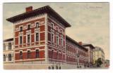 IASI -LICEUL NATIONAL-CARTE POSTALA UPU CIRCULATA LA 1908