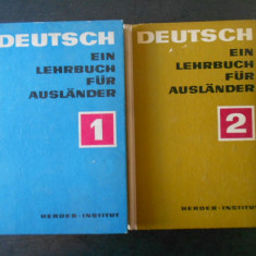 DEUTSCH EIN LEHRBUCH FUR AUSLANDER  2  volume  CURS DE LIMBA GERMANA