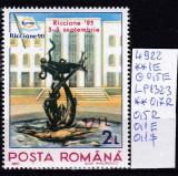 1993 Targul international de timbre postale Riccione supratipar LP1323 MNH, Sport, Nestampilat