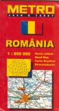 Romania - harta rutiera 1: 850000