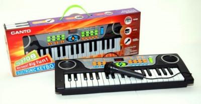 Mini orga de jucarie cu microfon functional pentru copii BK03 foto