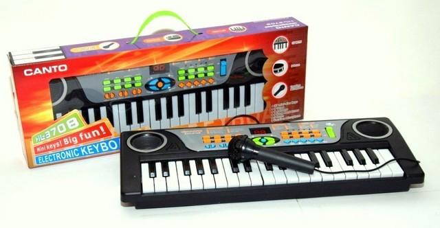 Mini orga de jucarie cu microfon functional pentru copii BK03
