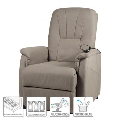 Fotoliu recliner Edmonton - microfibra - bej foto