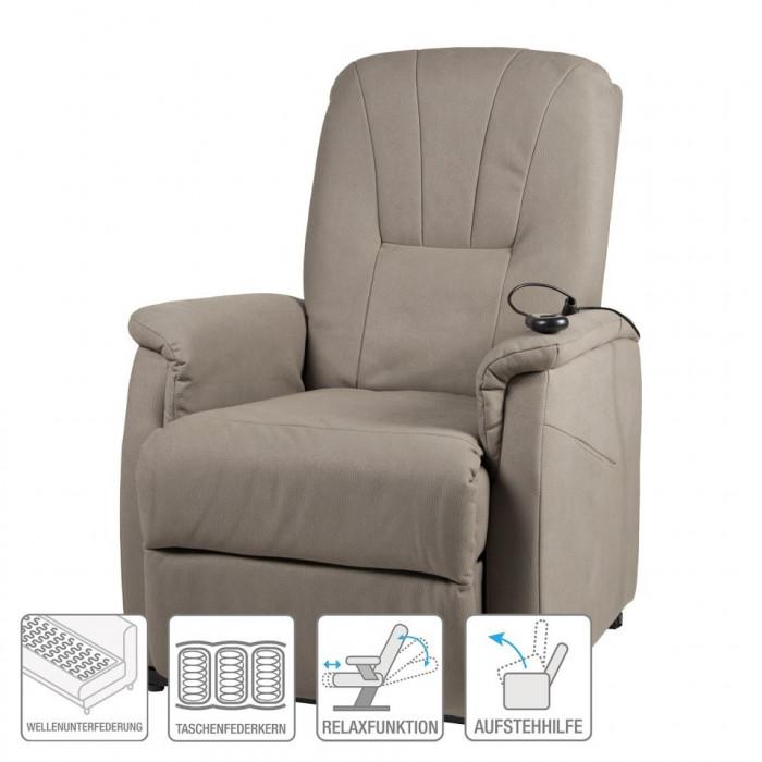 Fotoliu recliner Edmonton - microfibra - bej