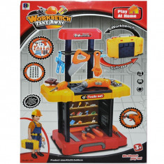 Banc de lucru + bormasina cu baterii + accesorii