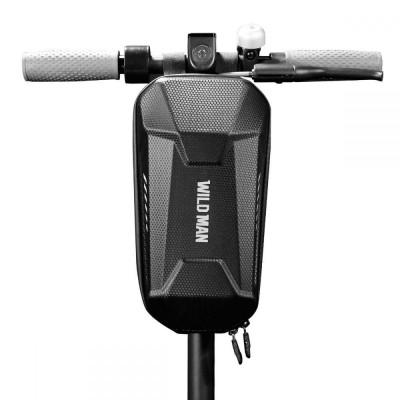 Geanta impermeabila pentru biciclete si trotinete electrice WildMan L Neagra foto