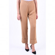 Pantaloni Drepti Vero Moda Idol Fold Up Tobacco Brown