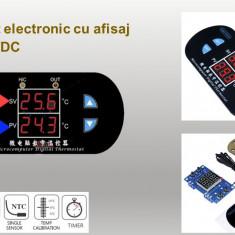 Termostat electronic 12V doua afisaje