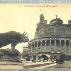 AD 360 C. P. VECHE - PARIS -PALAIS DU TROCADERO -1914 -FRANTA -SOPHIE PERIETEANU