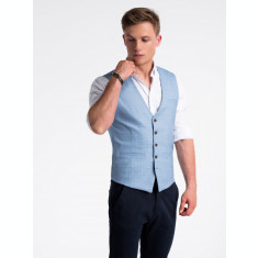 Vesta premium, eleganta, barbati - V48-albastru-deschis