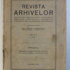 REVISTA ARHIVELOR , VOL. III , 2 NR. 8 , 1939