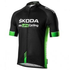 Tricou Barbati Oe Skoda We Love Cycling WLC Verde / Negru Marime L 000084610AN