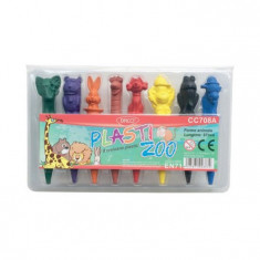 Set 8 creioane colorate Plasti Zoo Daco