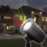 Proiector decorativ laser - cu tarus, verde/rosu - IP44 - 240V