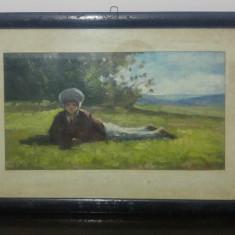 Ciobanas// reproducere de epoca dupa Nicolae Grigorescu, U/C