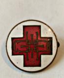MEDICINA INSIGNA CRUCEA ROSIE SOCIETATEA REGINA ELENA 20,40 MM SERIA 0938 INCUSA, Romania 1900 - 1950