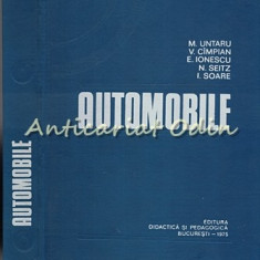 Automobile - M. Untaru - Tiraj: 5430 Exemplare