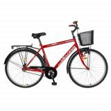 Bicicleta Oras Velors V2893A, Cadru otel 20inch, Roti 28inch, Frane Mecanice V-Brake (Rosu)
