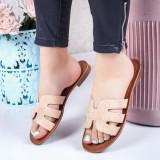 Papuci cu talpa joasa dama bej Sonylia