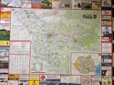 harta judetului timis judetul timis banat mare perete 106X86 cm in folie plastic