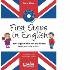 First Steps in English. Lectii pentru incepatori (contine CD audio) PlayLearn Toys