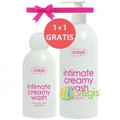 Pachet 1+1 Ziaja Intimate Cu Acid Lactic: Lotiune Protectoare Pentru Igiena Intima 500ml + 200ml Gratuit