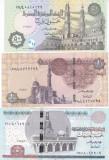 Bancnota Egipt 50 Piastri, 1 si 5 Pound 2017-18 - P70-72 UNC ( set x3 )