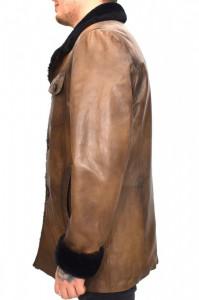 Cojoc barbati, din blana naturala, Kurban, 142-02-95, maro