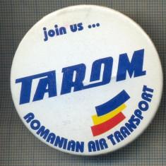 Y 1134 INSIGNA -AVIATIE - TAROM ROMANIAN AIR TRANSPORT - PENTRU COLECTIONARI