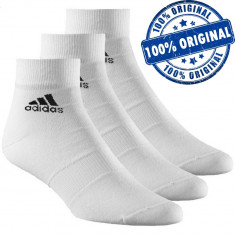 Set 3 perechi sosete Adidas Clima Ankle - sosete originale, Alb