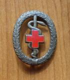 Crucea Rosie , insigna mare Romania , email , 1945