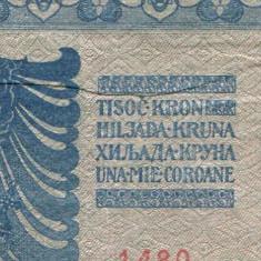 u147 ROMANIA BANCNOTA DE 1000 UNA MIE COROANE 1902 AUSTRO-UNGARIA aUNC