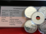 Set 5 Monede Argint cu certificat 20 euro 2019 PROOF, Europa