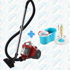 Set curățenie Aspirator fără sac HEINNER 700 W+ Mop Rotativ