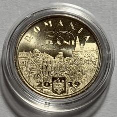 50 Bani 2019, Romania, Ferdinand I, UNC din fisic, in capsula