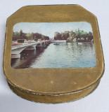 Cutie veche comunista colectie Bomboane ciocolata Dezrobirea imagine Bucuresti