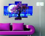 Tablou decorativ multicanvas Destiny, 5 Piese, Peisaj, 247DST1953, Multicolor