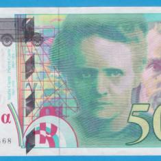 (1) BANCNOTA FRANTA - 500 FRANCS 1994, PRE-EURO, STARE FOARTE BUNA