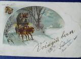 Editura Saraga Litografie, tematica sărbători iarna cai și trasura